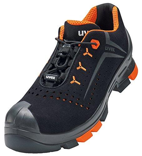 Uvex 2 Arbeitsschuhe - Sicherheitsscuhe S1 P SRC ESD - Orange-Schwarz, Größe:42
