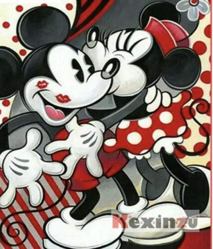 Topolino Disney & amp;Minnie Print Full Round Drill 5D Diamond Painting KitCross Stitch Set Mosaic Home Craft Decoration 40x50CM