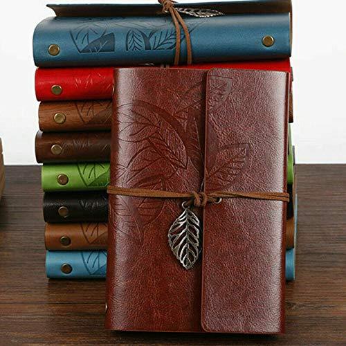 1 cuaderno de notas blanco, cuaderno de viaje, diario íntimo, diary retro,...