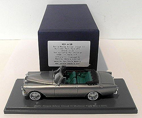Rolls Royce Silber Cloud III Mulliner Park Ward DHC, met.-grau, LHD , 1965, Modellauto, Fertigmodell, Neo 1 43