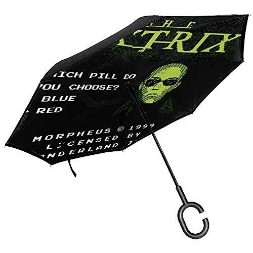 Morpheus Arcade De Matrix Omgekeerde Paraplu voor Auto Omgekeerde vouwen Ondersteboven C Gevormde Handen Lichtgewicht Winddicht Ideaal geschenk