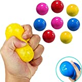 5Pcs Fluorescent Sticky Wall Ball Sticky Target Ball, Can Be Glued To The Ceiling, Popular Stress Relief Toys,Decompression Kid Toy (Random Color)