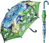 RainStoppers Kid's Ocean Print Umbrella, 34-Inch