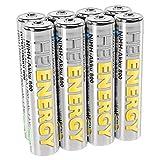 HEITECH AAA Akku Micro 800 mAh 1,2V NiMH TÜV geprüft 8 Stück - Wiederaufladbare Batterien mit geringer Selbstentladung - Akkus für Geräte mit hohem Stromverbrauch