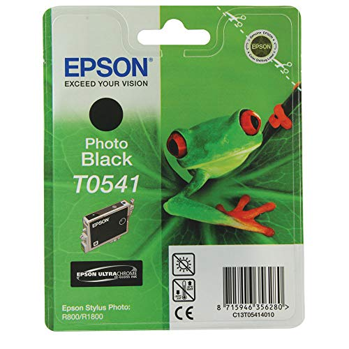 Epson Singlepack Photo Black T0541 Ink Cartridge for printers (Black, Epson Stylus Photo R1800, R800, Black, Inkjet, Blister, 246 mm)