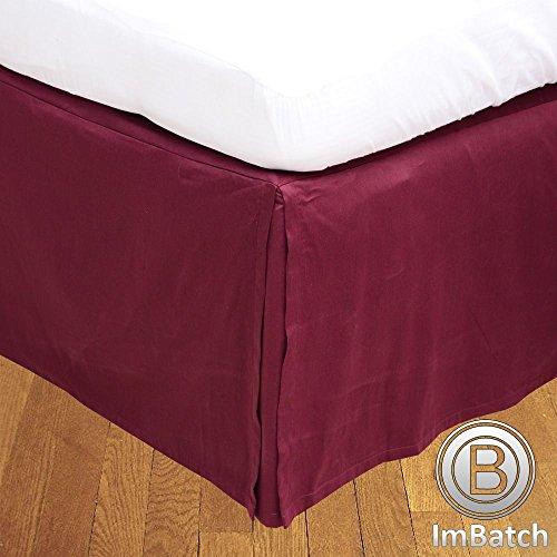 Faldón para cama RoyalLinens, 300 hilos, 100% algodón egipcio, acabado elegante, 1 unidad, (longitud de caída: 28 cm), algodón, Wine Solid, UK Emperor