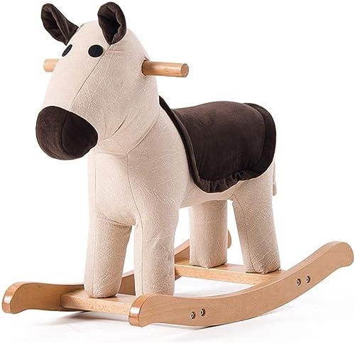 Schaukelpferd ZJING Kinder massivholz Tier hocker Baby Cartoon hocker Spielzeug Trojaner niedlichen schaukelstuhl