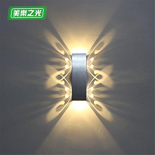 YU-K Chambre Simple Vintage wall lamp creative living salle à manger chambre lumières lumières allée lampe murale à led chambre lit balcon allée chaude escaliers wall lamp, 2w, longueur 20cm 6cm de largeur 6CM, lumière chaude