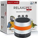 RelaxoPet PRO Tierentspannungs-Trainer | Version 2020 | Für Vögel | Beruhigung durch Klangwellen | Ideal bei Gewitter, Alleinsein oder Federrupfen | Hörbar und unhörbar