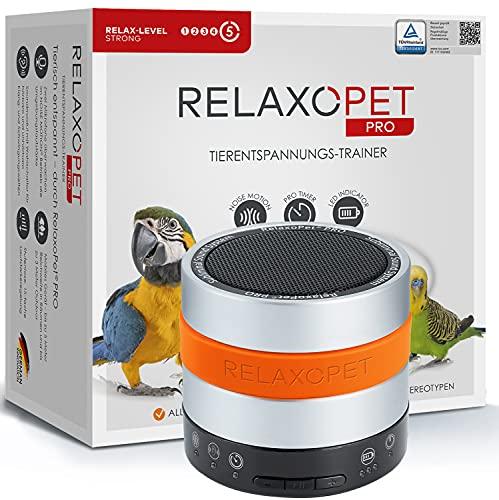 RelaxoPet PRO Tierentspannungs-Trainer   Version 2020   Für Vögel   Beruhigung durch Klangwellen   Ideal bei Gewitter, Alleinsein oder Federrupfen   Hörbar und unhörbar