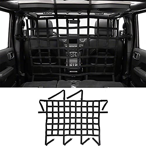 Jeep Wrangler Car Rear Seat Isolation Net, Back Seat Barrier for Dogs for Jeep Wrangler JK and JL, JT 2007-2021