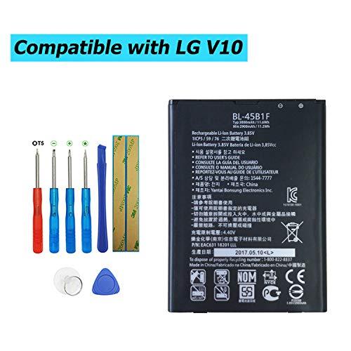 Upplus BL-45B1F - Batería de Repuesto para LG V10 Stylo 2 LS775 (2900 mAh, 3,85 V)