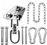 Hammock Hanging Kit with Swing Chain, 1000lbs Capacity Hanging Hooks Heavy Duty 360° Swivel for Yoga, Chair, Tree, Indoor & Outdoor Gym