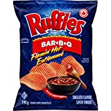 Lay's Ruffles Flamin' Hot Bar-B-Q Chips, 190g/6.7 oz. Bag, (Imported from Canada)