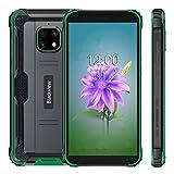 Smartphone Incassable, Blackview BV4900 Telephone Portable Debloqué 4G, Android 10, Écran 5.7 Batterie 5580mAh, 3Go+32Go, 8MP+5MP Caméra, NFC, GPS, Dual SIM, Vert