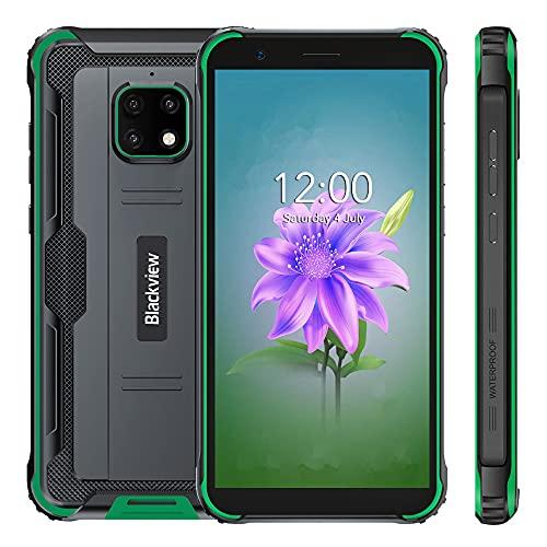 Telefono Móvil Libre, Blackview BV4900, IP68 Android 10 Smartphone 4G, 5580mAh Batería, 3GB +32GB, Pantalla 5.7, Cámara 8MP+5MP, NFC, GPS, Dual SIM, Verde