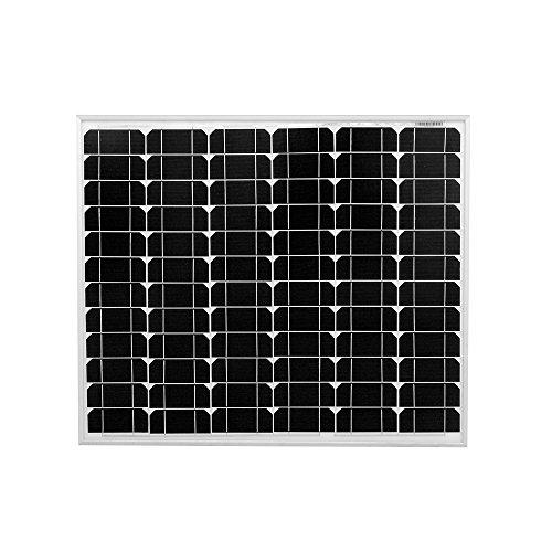 DOKIO Pannello Solare 80W 12V Monocristallino Fotovoltaico Impianto Camper Casa Baita