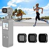 Neewer Set Filtros ND Magnéticos para DJI Osmo Pocket 2/1 Cámara de Mano Cardán Incluye Filtros con Recubrimiento Múltiple ND4 ND8 ND16 con Estuche (Marco Aleación de Aluminio Negro)