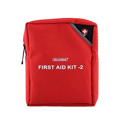 First Aid Kit Cassetta pronto soccorso, con norme di primo soccorso, colore: rosso