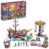 LEGO Friends IlMolodeiDivertimentidiHeartlakeCity, Parco dei Divertimenti con Montagne Russe su Nave Fantasma,Giostra del Luna Park e 5 Mini-doll, 41375
