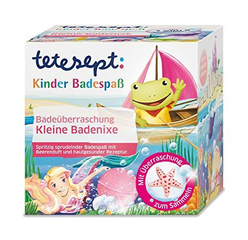 """tetesept Kinder Badespaß Badeüberraschung """"Kleine Badenixe"""" - Spritzig sprudelnder Badeball - inkl. Sammelfigur und kleiner Badegeschichte - 1 x 140 g"""