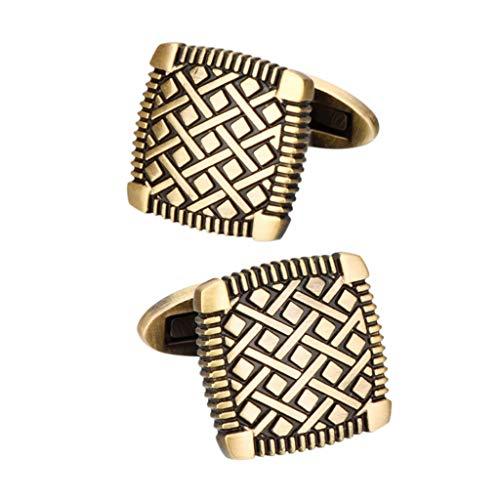 DYXYH Tallado Antiguo Patrón de Oro Gemelos Ganquete Traje Camisa Francesa Puños de Puerta Francesa Regalos de joyería de los Hombres