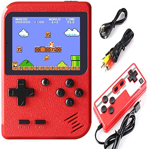 Hockoliy Handheld Game Console, Retro Game Player with 400 Classical FC Video Games 3.0-Inch Color Screen, Supporting 2 Players and TV Connection, Gift for Kids and Adult - Plug and Play