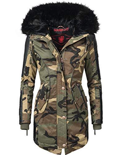 Marikoo Damen Winter Mantel Parka Larissa Camouflage Gr. XS
