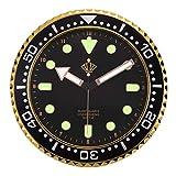 Lafocuse Black Wall Clock Glow in Dark Non Ticking...
