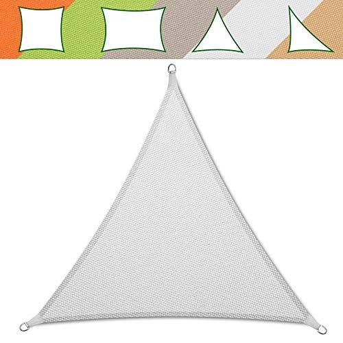 casa pura® Sonnensegel wasserabweisend imprägniert | Testnote 1.4 | Dreieck gleichseitig | UV Schutz Größen (weiß, 3x3x3m)