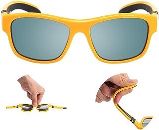 نظارات شمسية شمسية مستقطبة من Caalex للأطفال مصنوعة من المطاط إطار مرن للأولاد والبنات
