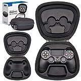 Sisma Funda rigida para Mando Wireless DualShock 4 de PS4, Estuche de Viaje para Guardar y Proteger Gamepad Original de Playstation 4, Negro
