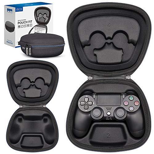 Sisma Aufbewahrung Tasche für PS4 offizielle DualShock 4 Wireless Controller, Playstation 4 Original Gamepad Tragetasche Hardcase Stoßdämpfender Schutz Hülle, Schwarz