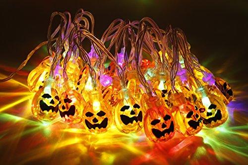 Decoración para Halloween, luces de calabaza, 30 LEDS.
