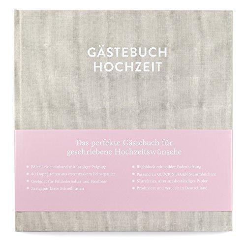Glück & Segen Gästebuch Hochzeit Frida Cremebeige 144 Seiten