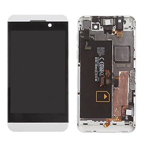 YUEZHIMY Intercambiable para Piezas dañadas IPartsBuy Pantalla LCD + Asamblea de digitalizador de Pantalla táctil con Marco for Blackberry Z10 4G Accesorio (Color : White)