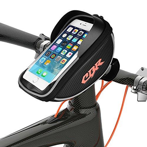 Bolsas de cuadros, maletas anlising Bolsa de manillar de bicicleta impermeable para teléfonos móviles GPS Navi y otros dispositivos de hasta 6 pulgadas para todo tipo de bicicletas