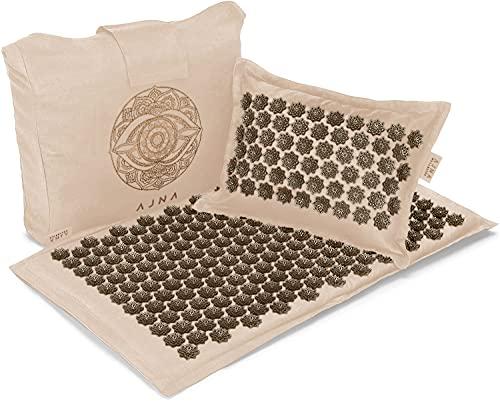 Linen Acupressure Mat and Pillow Set