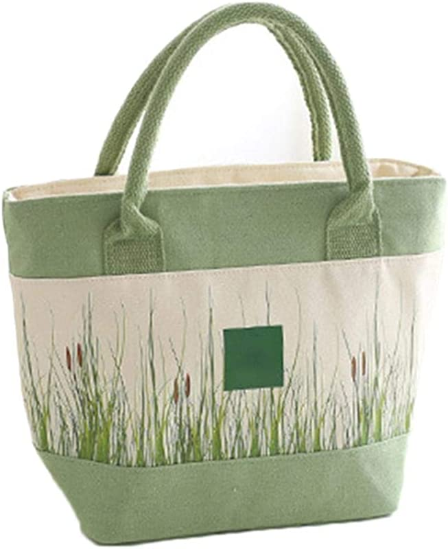 ICCUN Casual Outdoor Picnic Green Plants Keep Fresh Isolate Temperature Lunch Bag Lunch Bags