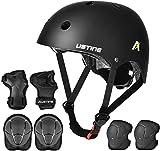 USTINE Skateboard Helmet, Bike Helmet, Protective Gear Set...