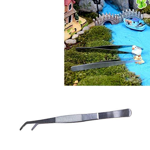 Warm Home Plant Cleaning Tool Bend roestvrij staal pincetten, Marine Aquarium Onderhoud Live Plant Tool Pincetten, Maat: 25 * 1.4cm Gift geven