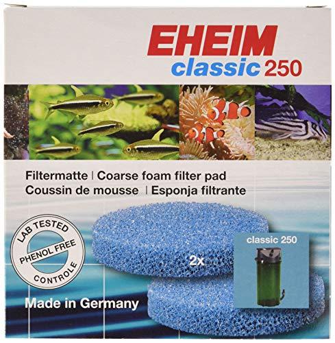 Eheim Filtro Grueso 250 clásico Externo, 2Unidades