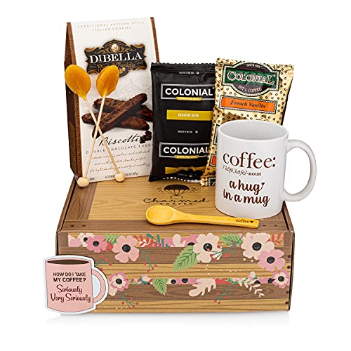 Flavorful Coffee Lovers Coffee Gift Basket - Delight them with a Coffee Gift Set They'll Adore; Our Coffee Basket is the Finest Coffee Box; A Truly Unique Coffee Lovers Gifts for Him and Her