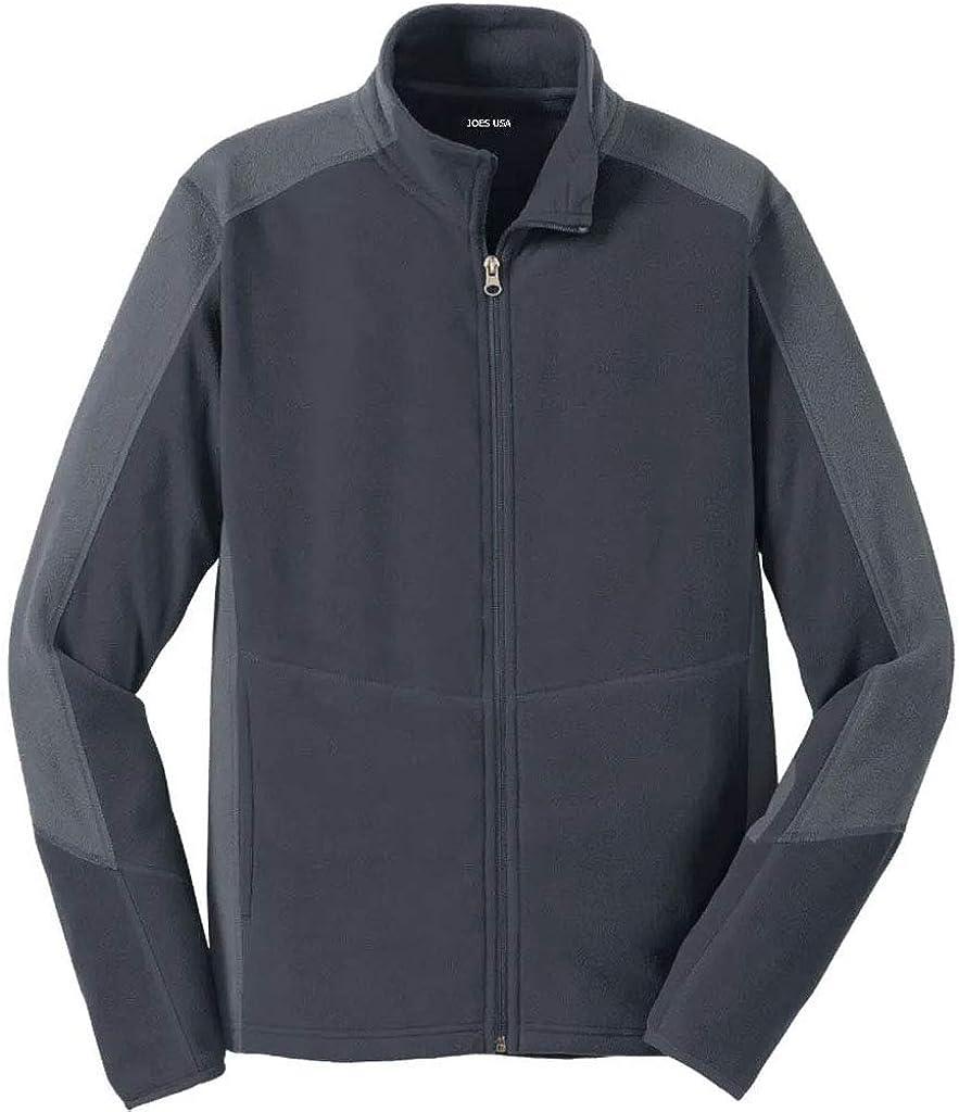 Joe's USA Mens Microfleece Full-Zip Jackets Adult Sizes: XS-4XL