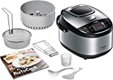 Bosch MUC28B64FR 900 W Metallic Multicooker, 5 L, Black / Gray / Anthracite