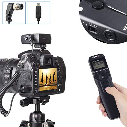 Viltrox Wireless Shutter Timer Remote Release Control Intervalometer for Nikon DSLR Camera D2H D200 D300 D4 D3 D300S D700 D750 D800 D90 D3200 D3300 D5200 D5300 D5500 D5600 D7000 D7100 D7200 D600