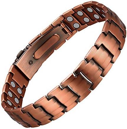 Jecanori Copper Bracelet For Men Magnetic Therapy Bracelets for Arthritis Pain Relief 99 99 product image