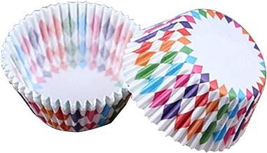 أغطية أكواب ورقية من زيت الكعك والكب كيك مطبوعة 100 قطعة من vanpower لتزيين الخبز - حفلات الزفاف لعيد الميلاد, 68x50x32mm/2.67x1.96x1.26in
