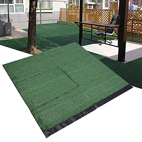 logozoe Synthetic Artificial Grass, Synthetic Lawn, Carpet Faux High Density 15mm Pile Height for Outdoor Indoor(ArmyGreen)