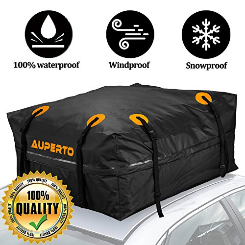AUPERTO Cargo Bag, Roof Bags 425 Liters Storage Capacity Waterproof for Cars, Vans or SUVs 95x95x46cm (black)